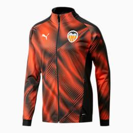 Valencia CF Men's Stadium Jacket, Puma Black-Vibrant Orange, small