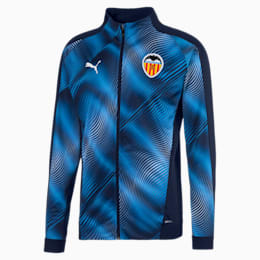 Valencia CF Men's Stadium Jacket, Peacoat-Vibrant Orange, small