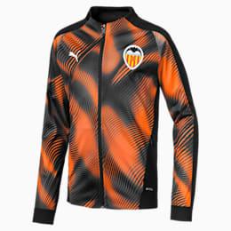 Blouson Valencia CF Stadium pour enfant, Puma Black-Vibrant Orange, small