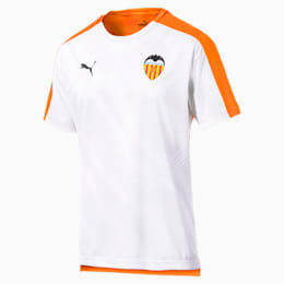 Valencia CF Men's Stadium Jersey, Vibrant Orange-Puma White, small