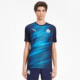 Męska koszulka sportowa Olympique Marsylia, Dwurzędowa kurtka marynarska, small