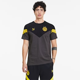 BVB Iconic MCS Herren T-Shirt, Asphalt-Puma Black, small