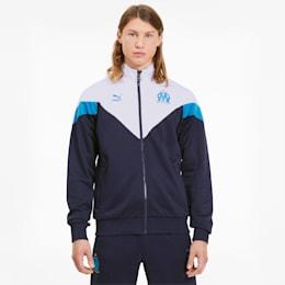 Olympique de Marseille Men's MCS Track Jacket, Peacoat-Puma White, small