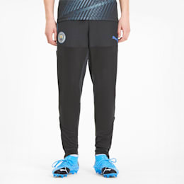 Manchester City FC Men's Stadium Training Pants, Asphalt-Team Light Blue, small