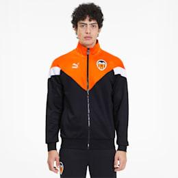 Valencia CF Men's MCS Track Jacket, Puma Black-Vibrant Orange, small