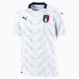 Italia Men's Away Replica Jersey, Puma White-Peacoat, small