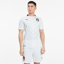 Italia Men's Away Replica Jersey, Puma White-Peacoat, small