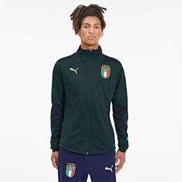 FIGC Men's Training Jacket, Ponderosa Pine-Peacoat, small