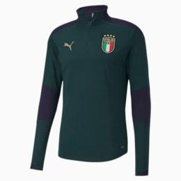 FIGC イタリア トレーニング 1/4 ジップトップ