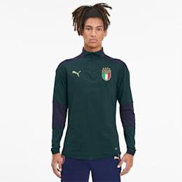 FIGC Men's 1/4 Zip Training Top, Ponderosa Pine-Peacoat, small