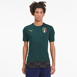 FIGC イタリア カジュアル Tシャツ 半袖, Ponderosa Pine-Peacoat, small-JPN