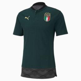 FIGC イタリア ICONIC MCS ポロシャツ 半袖, Ponderosa Pine-Peacoat, small-JPN