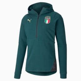 FIGC イタリア カジュアル フーディー, Ponderosa Pine-Peacoat, small-JPN