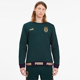 Italia Men's FtblCulture Sweater, Ponderosa Pine-Team Gold, small