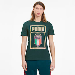 FIGC イタリア PUMA DNA Tシャツ 半袖, Ponderosa Pine-Team gold, small-JPN
