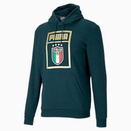 FIGC イタリア PUMA DNA フーディー, Ponderosa Pine-Team Gold, small-JPN
