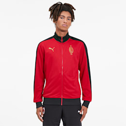 AC Milan 120th Anniversary T7 Men's Track Jacket, Tango Red -Victory Gold, small