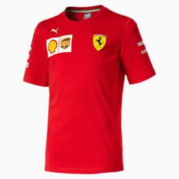 Scuderia Ferrari Boys' Team Tee JR, Rosso Corsa, small