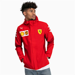 Ferrari Team Hooded Men's Jacket, Rosso Corsa-without MW Logo, small