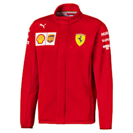 Ferrari Team Men's Softshell Jacket, Rosso Corsa-without MW Logo, small