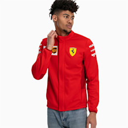 Ferrari Team Men's Softshell Jacket, Rosso Corsa-without MW Logo, small