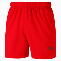 Active Men's Woven Shorts, Flame Scarlet, small