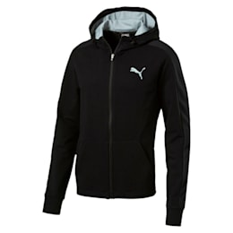 StretchLite Zip-Up Hoodie, Cotton Black, small