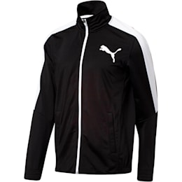 Contrast Track Jacket, Puma Black-Puma White, small