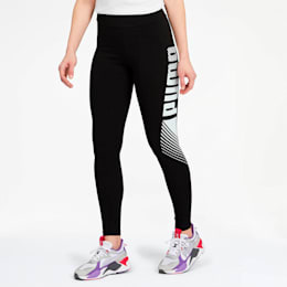 Leggings Essential estampados para mujer, Puma Black, pequeño