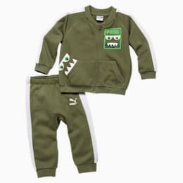 Babies' Monsters Track Suit, Olivine, small