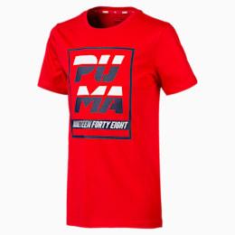 キッズ ALPHA SS グラフィック Tシャツ 半袖, High Risk Red, small-JPN