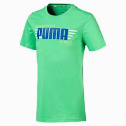 キッズ ALPHA SS グラフィック Tシャツ 半袖, Irish Green, small-JPN