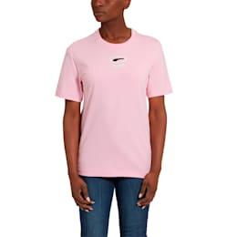 OG Women's Tee, Pale Pink-Black logo, small