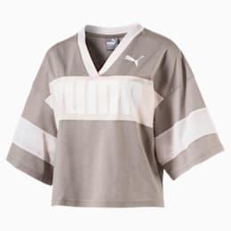 Damen Puma Urban Sports Trend Schwarz Silber T Shirts