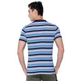 Stripe Pique Polo 3, TRUE BLUE-Peacoat, small-IND