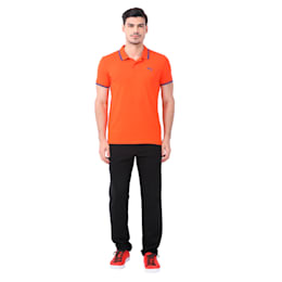Active Hero Polo, Cherry Tomato-Blue Depths, small-IND