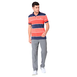 COLOR BLOCKED POLO M, Flame Scarlet Heather, small-IND