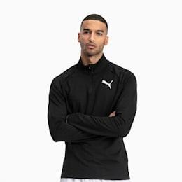 Active Men's Half Zip Sweater, Puma Black, small