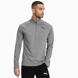 Active Men's Half Zip Sweater, Medium Gray Heather, small