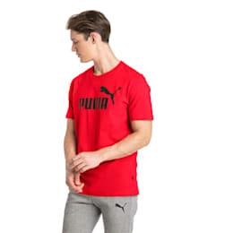 Essentials Short Sleeve Men's Tee, Puma Red, small