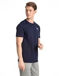 Men's Essentials Small Logo T-Shirt, Peacoat-_Cat, small