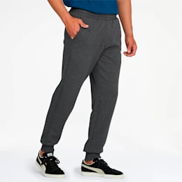 Essentials Men's Fleece Knit Pants, Dark Gray Heather, small
