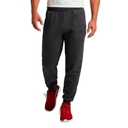 Essentials Men's Fleece Knit Pants, Dark Gray Heather, small