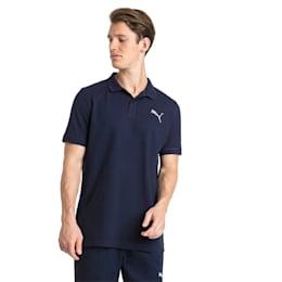 Essential Short Sleeve Men's Polo Shirt, Peacoat-_Cat, small