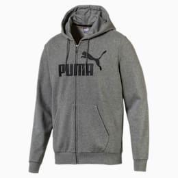 Essentials Men's Hooded Jacket, Medium Gray Heather, small-IND