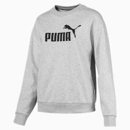 Essentials Damen Rundhals Sweatshirt, Light Gray Heather, small