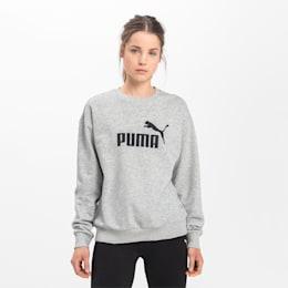 Essentials Crew Women's Sweatshirt, Light Gray Heather, small