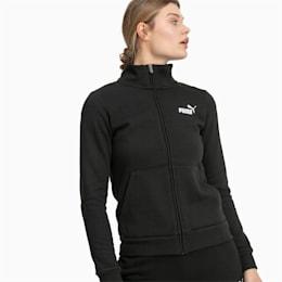Essentials Damen Fleece Trainingsjacke, Cotton Black, small