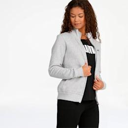 Essentials Women's Fleece Track Jacket, Light Gray Heather, small