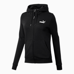 Essentials Women's Hooded Jacket, Cotton Black, small